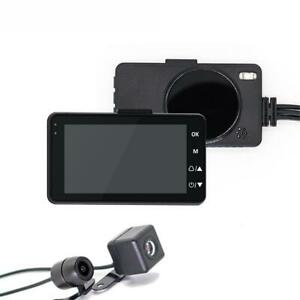Moto-Camera-Dash-Cam-DVR-enregistreur-video-Dual-Lens-Loop-record-vision-de-nuit