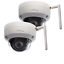 New Q-See QCW3MP1D-2 3MP Wi-Fi Dome Security Cameras w// 100ft Night Vision 2Pack