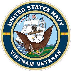 UNITED-STATES-NAVY-Vietnam-Veteran-Decal-Window-Bumper-Sticker