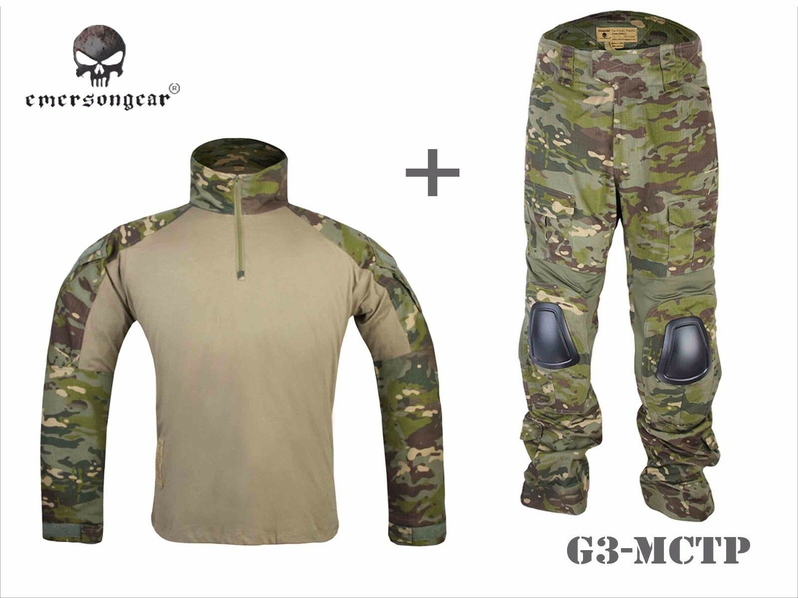 Emerson Airsoft Hunting  Uniform BDU Combat Tactical G3 Uniform and Knee Pad MCTP  incentive promotionals