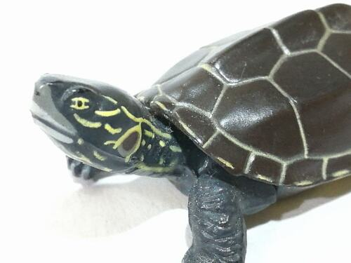 Japan KAIYODO Reeves Pond Turtle Reptile Animal Miniature Mini Realistic Figure