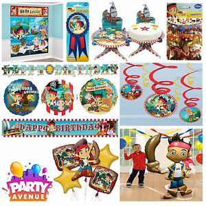 Jake The Neverland Pirates Tableware Party Decorations Foil
