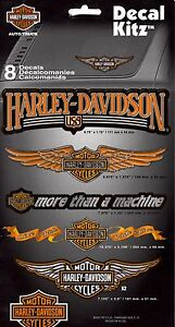 HARLEY DAVIDSON DECAL KITZ -SET OF 8 DECALS- (3900)