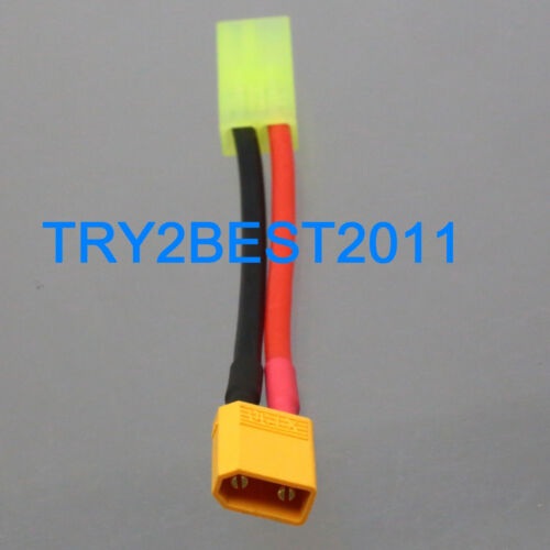 XT30 male to Mini Tamiya female Connector Adapter Cable 18AWG 5CM Wire for LiPo