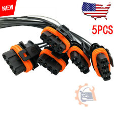 5pcs Set Electrical Connector Of Ignition Coil Uf341 Fits Volvo 5 Cyl Plug Fits Volvo