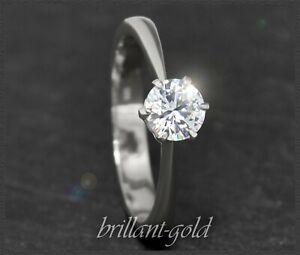 0-57ct-Brillant-Solitaer-Damen-Ring-aus-585-Gold-Diamant-in-River-E-amp-Si-Neu