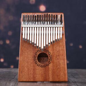 17-Key-Kalimba-Single-Board-Mahogany-Thumb-Piano-Keyboard-Instrument-NEW