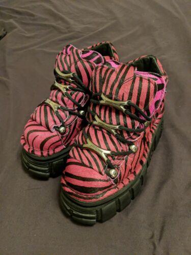 NewRock New Rock Pink Zebra Boots