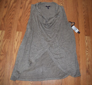 Image is loading NWT-Womens-OLIVIA-SKY-Sleeveless-Open-Drape-Cardigan- a4a7a0062