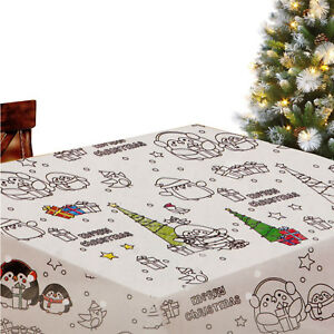 Kids Colour Your Own Christmas Tablecloth Xmas Childrens Table Cloth Decoration Ebay