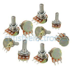 10-pcs-5K-ohm-Linear-Taper-Rotary-Potentiometer-Panel-pot-B5K-15mm