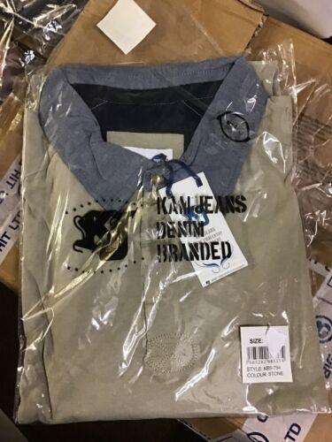 Size 2XL Mens Kam Long Sleeve Polo Top