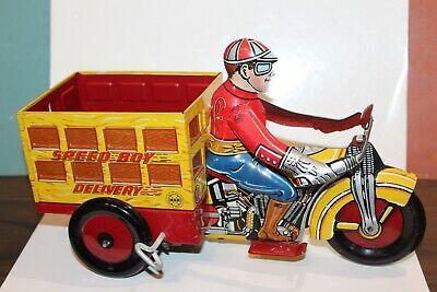 Autos & Lkw Blechspielzeug Sehr Schön Blech Litho 588ms Marx Aufziehen Speed Junge Lieferung Motorrad W/ Reichhaltiges Angebot Und Schnelle Lieferung