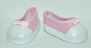 American-Girl-Doll-Our-Generation-Doll-18-Inch-Dolls-Clothes-Shoes-Pink-Slip-ons