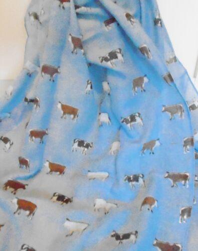 Scarf Cow Print Cotton Blend Gift Idea