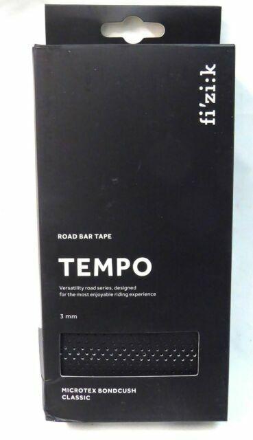 Soft Black Fizik Tempo Classic Road Bike Bar Tape Microtex Bondcush 3mm
