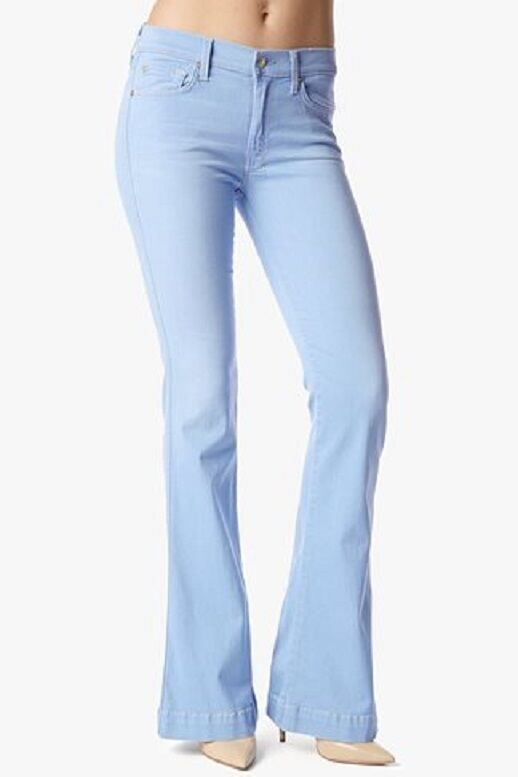 7 FOR ALL MANKIND SLIM TROUSER AU0374424A IN LIGHTWEIGHT blueE SIZE 24