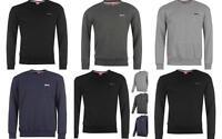 Slazenger Mens Sweatshirt Crew Neck Fleece Jumper Charcoal Grey Navy Black