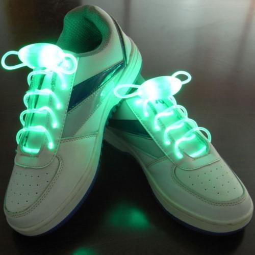 JN/_ LED Flash Luminous Light Up Glow Strap Shoelace Shoe Laces Party Disco Pro