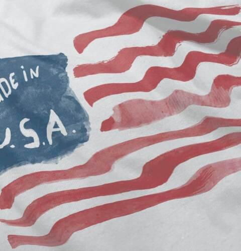Made In USA Flag Stars Gerber OnesiePatriotic American Pride Baby Romper