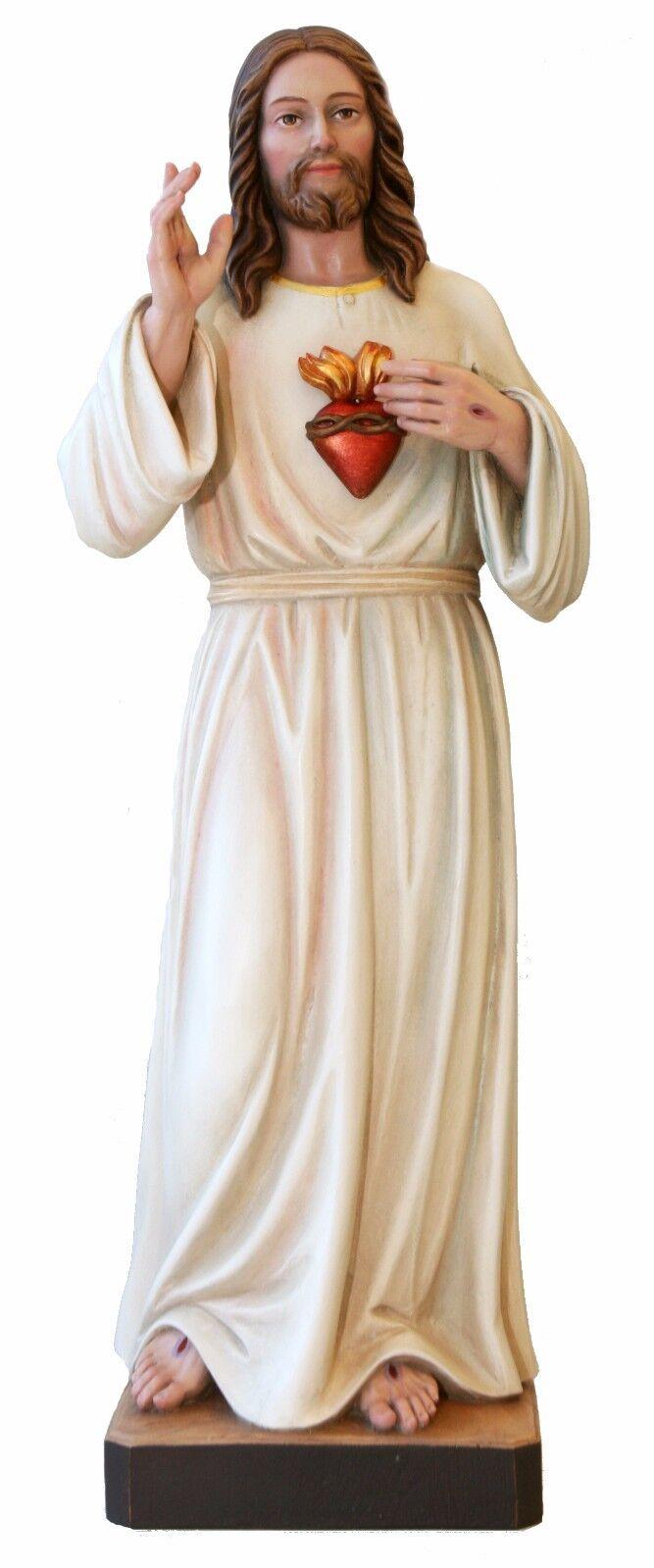 Sacrot Sacrot Sacrot heart of Jesus Statuen Holz-geschnitzte - Heiligen Herz von in Holz   eine große Vielfalt  b6e95a