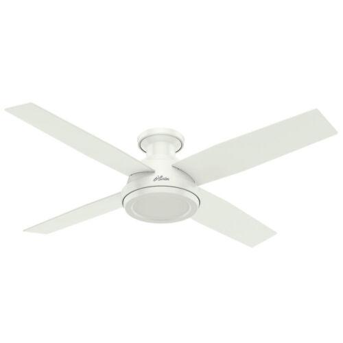 "Hunter 52/"" Dempsey Fresh White Ceiling Fan w//Remote 59248 New"