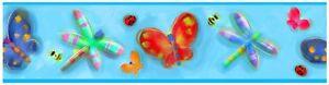 Roommates-Gelee-Bugs-Papillon-Bordure-Papier-Peint-Enfants-Chambre-Mural-Decor