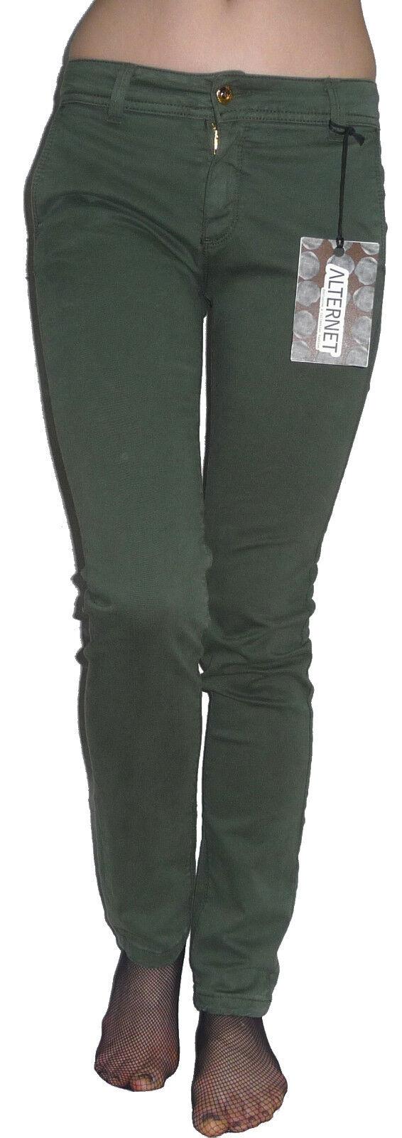 Pantaloni Lunghi Stretti Fustagno Elasticizzati Caldo Cotone Ragazza daMänner Slim