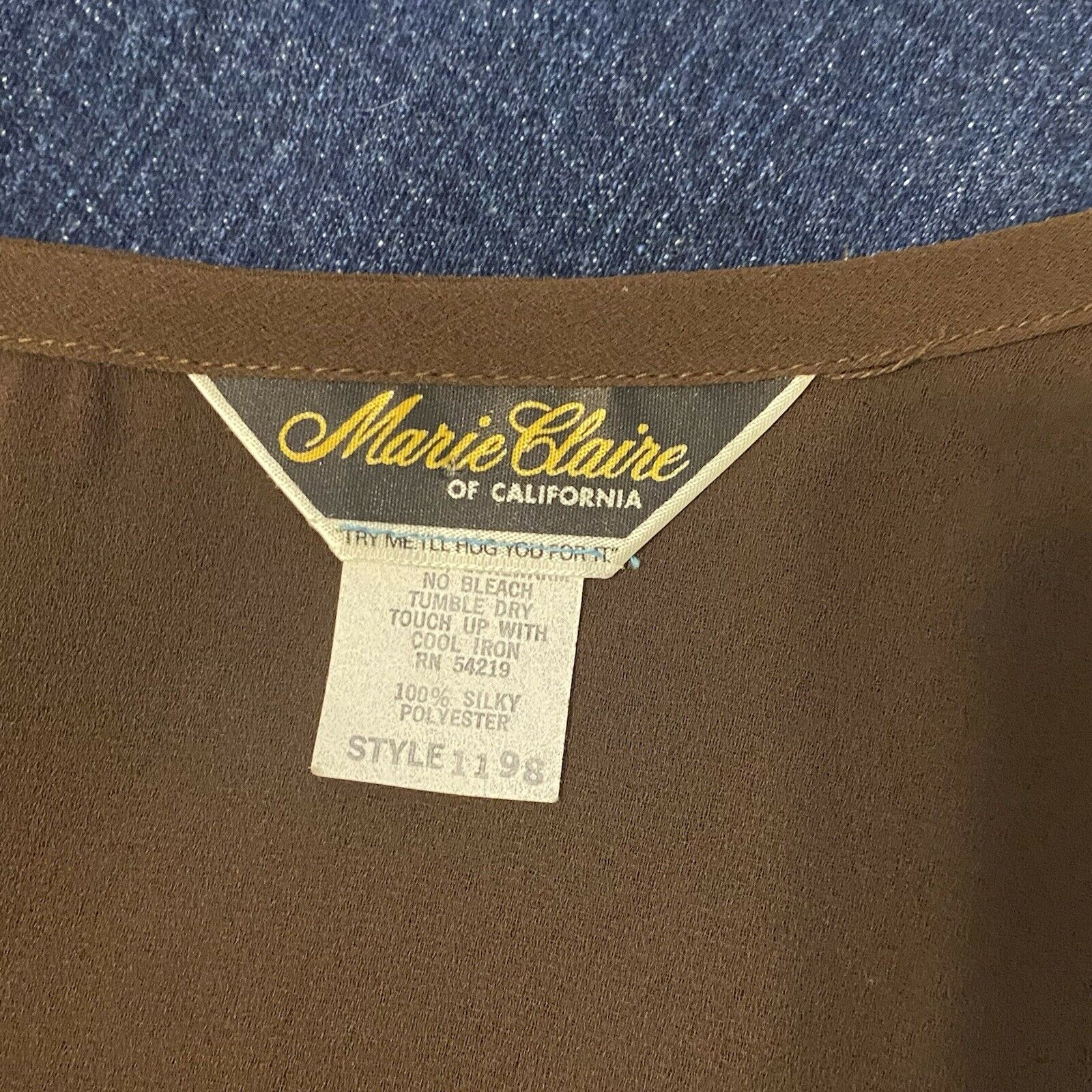 marie claire of california brown vintage button u… - image 3
