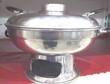 Asian Hot Pot Tom yum Shrimp /Fish Seafood Soup Warming Aluminium Dish New 22 cm