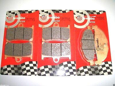 POSTERIORI BREMBO 07077XS 07059XS TMAX 500 2008 2009 2010 2011 KIT PASTIGLIE FRENO ANTERIORI