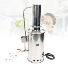 110v Lab Pure Water Electric Stainless Steel Distiller Still Filter With Pipe 5l