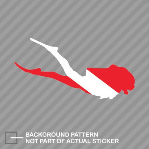 Female Diver Flag Sticker Decal Vinyl Scuba Girl