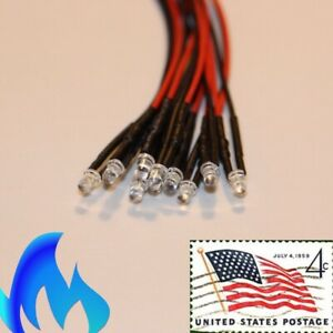 10x-3mm-Blue-Flickering-LEDs-Pre-Wired-9v-11v-Candle-Light-USA