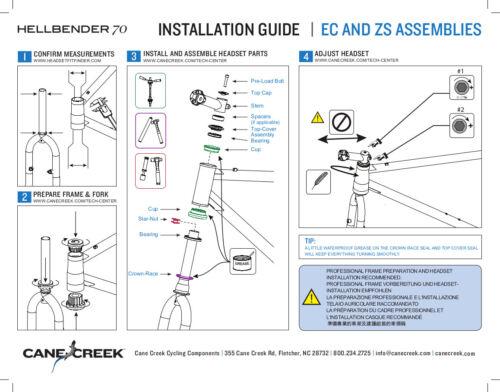 IS41//28.6//H9IS52//40 #BAA1188K Cane Creek Hellbender 70 Bicycle Headset