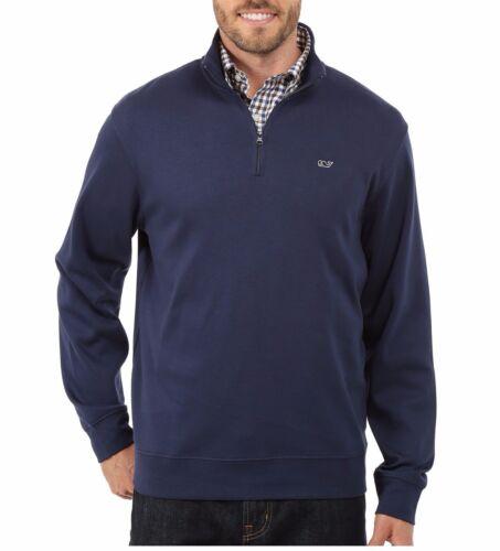 Vineyard Vines Men/'s Jersey Cotton 1//4 Zip Jersey Pullover  Blue Blazer $98.50