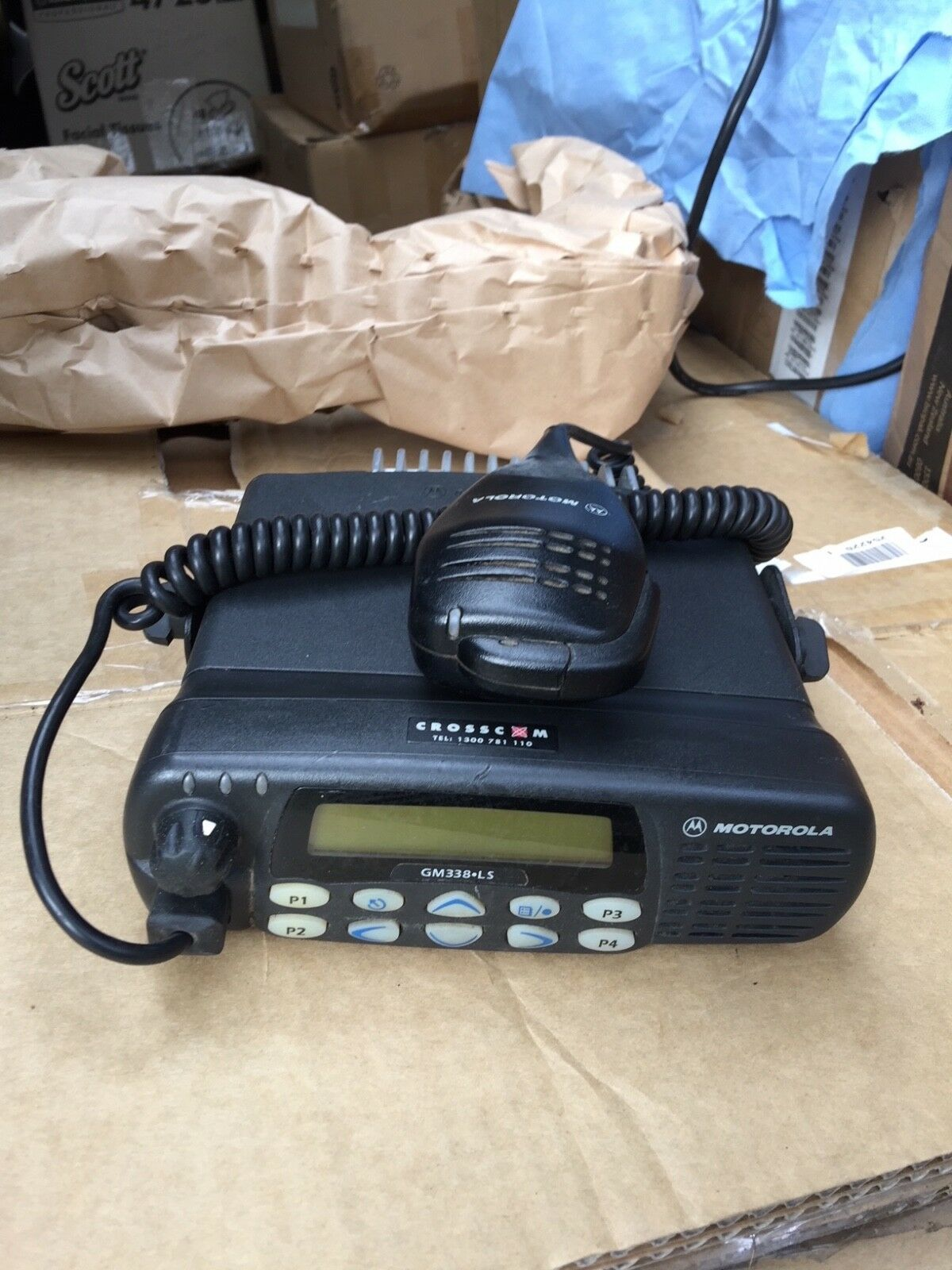 Motorola GM338 UHF 2 Way Car Truck Mobile Amateur Ham Radio Transceiver