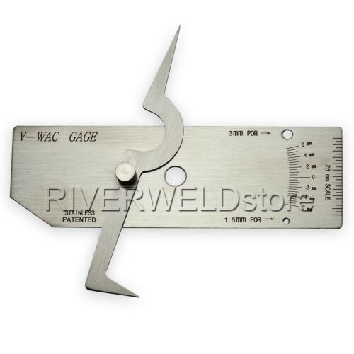 V-WAC Biting Edge welding gauge gage welder Welding Inspect Metric EMS ship USA