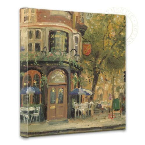 Thomas Kinkade Bloomsbury Cafe 14 x 14 Gallery Wrapped Canvas