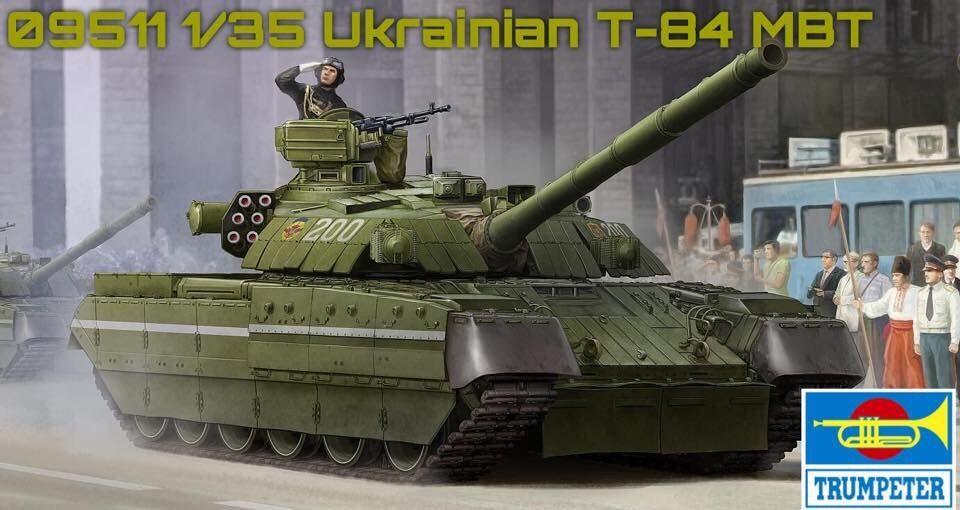 09511 Trumpeter 1 35 Model Ukraine T-84 Main Battle Tank Plastic Armored Car Kit