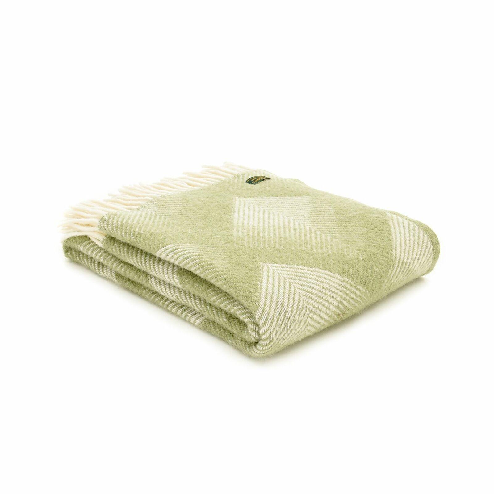 Pure Manta Cobertor De Lana Nuevo Prisma-Azul verde o Rojo Hecho en Reino Unido