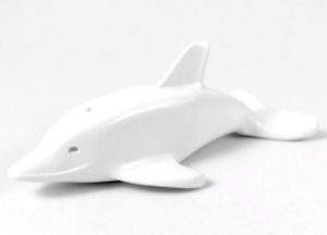 Lego White Dolphin with Normal Connection /& Axle Holder Animal Figure Minifigure