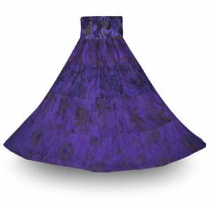 Wunderschöner Freizeitrock Größe 36-38 lila Baumwolle INDIEN