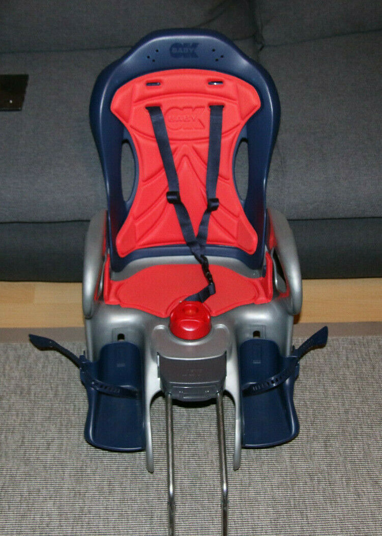 OKBaby Kinderfahrradsitz für hinten blau rot