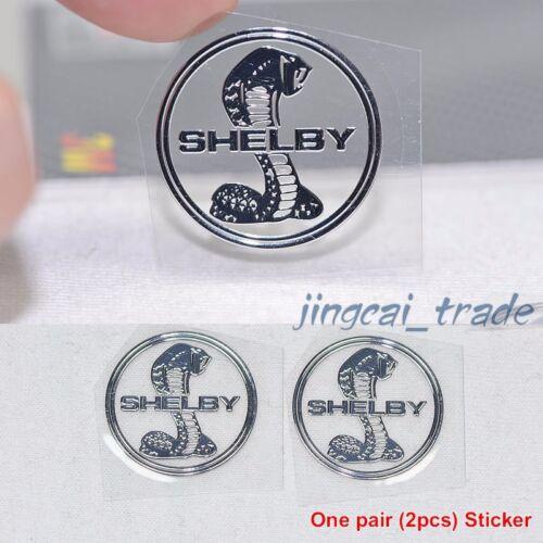 Poliertes Chrom KOBRA SCHLANGE SHELBY Logo Auto Emblem Paar 2 Stk