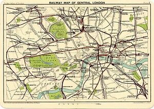 image is loading reproduction bartholemews 1900 map central london rail stations