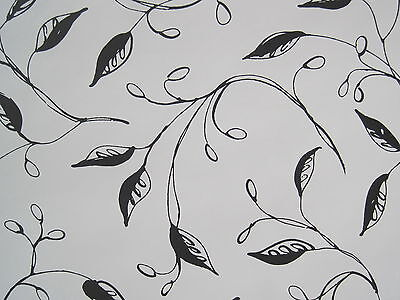 ASHFORD HOUSE BLACK on WHITE FLORAL wallpaper DOUBLE ROLL