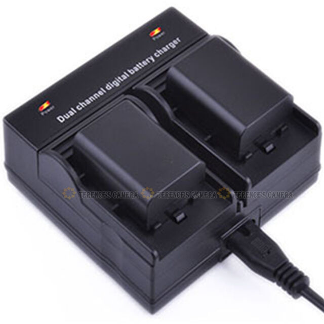 Dual Channel Battery Charger For Canon LP-E8 700D 650D 600D 550D T2i T3i T4i T5i