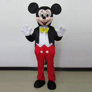 Parade Mickey Mouse Adult Mascot Costume Party Clothes Fancy Dress Outfit unisex