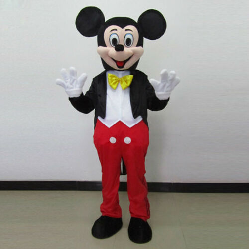 Was specially Mickey and minnie mouse adult costume speaking the
